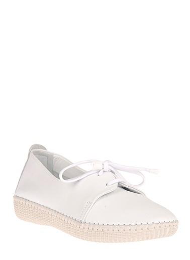 Uniquer Hakiki Deri Günlük Ayakkabı Beyaz